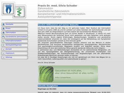 Schuder Silvia Dr. med. Zahnärztin