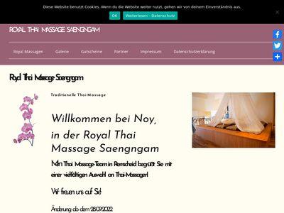 Massage Tradionelle Thai Massage