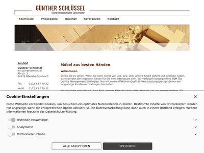 Schreinermeister Günther Schlüssel