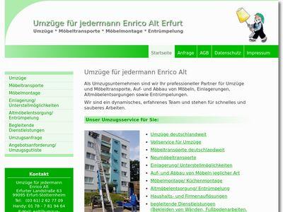 Umzüge für jedermann Enrico Alt Erfurt