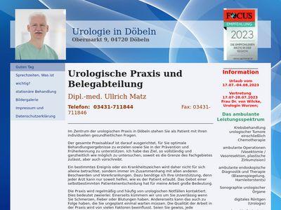 Dipl.Med. Ullrich Matz Facharzt für Urologie
