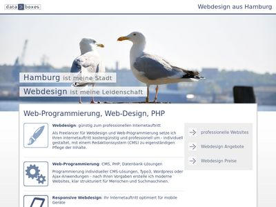 Databoxes Webdesign Hamburg