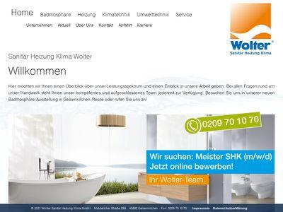 Wolter GmbH Sanitär-Heizung-Klima