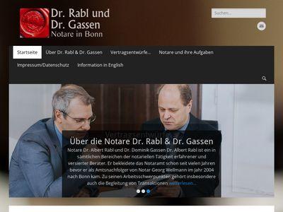Notare Dr. Rabl und Dr. Gassen