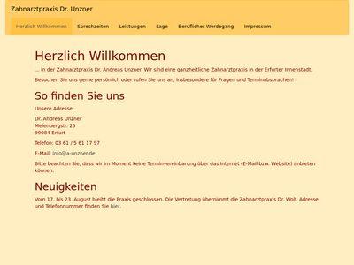 Unzner Andreas Dr.med. Zahnarzt Praxis