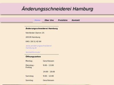 Änderungsschneiderei Hamburg Preisliste