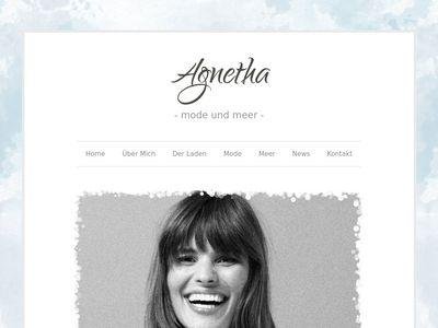 Agnetha Mode und Meer