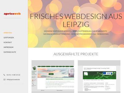 Apricoweb - Webdesigner in Leipzig