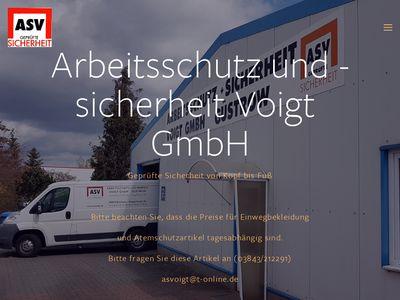 ASV Arbeitsschutz und -sicherheit Voigt GmbH
