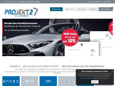 Projekt.2 ...die Autohaus- Druckerei GmbH