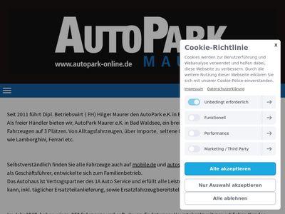 Autopark Maurer