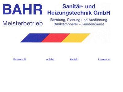 Bahr Sanitär- und Heizungs- technik GmbH