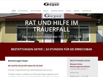 Bestattung Geyer