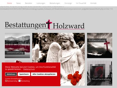 Bestattungen Holzward