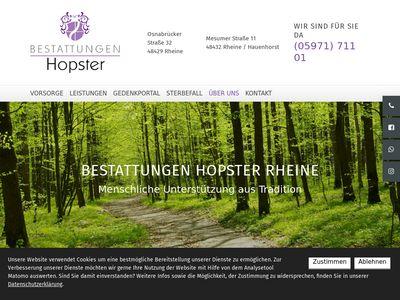 Beerdigungsinstitut Hopster
