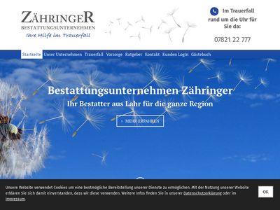 Bestattungsunternehmen Zähringer