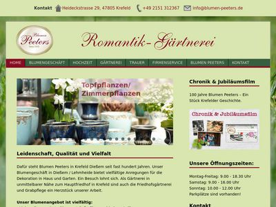 Romantik-Gärtnerei Blumen Peeters