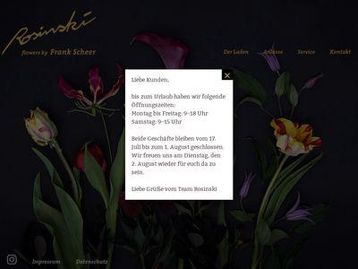 Blumen Rosinski