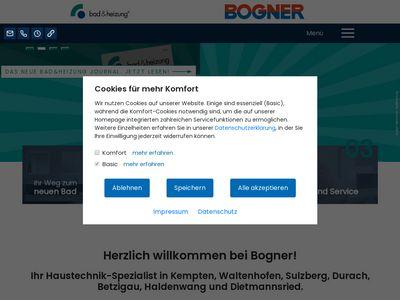 Bogner GmbH Heizung Lüftung und Sanitär