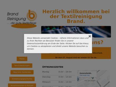 Brand Textilreinigung