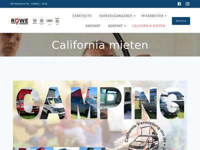 California Vermietung M/V