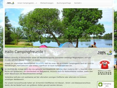 """Camping """"Am Kluger See"""