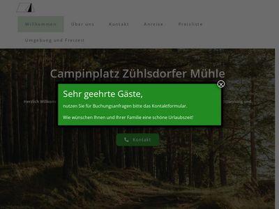 Campingplatz Zühlsdorfer Mühle