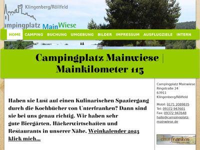 Campingplatz Mainwiese