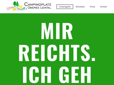 Campingplatz Oberes Leintal