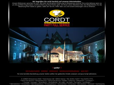 Partyservice + Metzgerei Cordt OHG