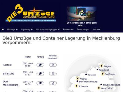 Die 3 Umzüge-Container-Lagerung