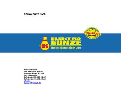 ELEKTRO-KUNZE Inhaber Matthias Kunze