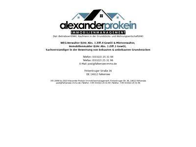 Alexander Prokein Immobilienmanagement