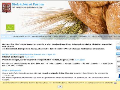 Farina Biobäckerei, Farina Pustekuchen G