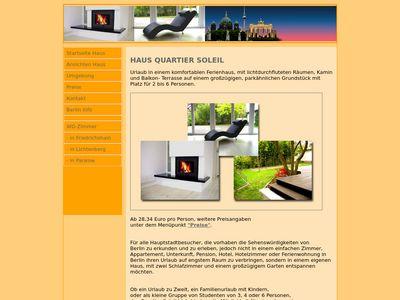 Quartier Soleil - Ferienhaus in Berlin