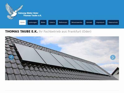 Thomas Taube e.K., Heizung-Bäder-Solar