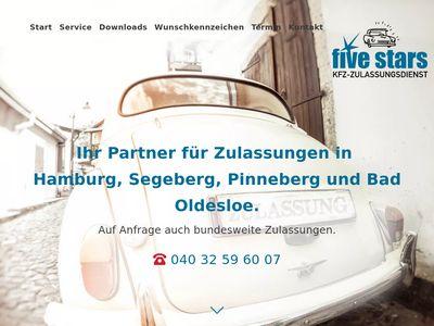 KFZ-Zulassungsdienst five stars e. K.