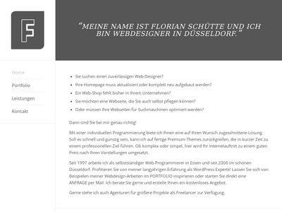Webdesign Florian Schütte