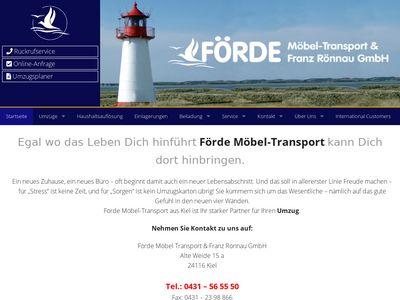 Umzug mit Förde Möbeltransport Kiel