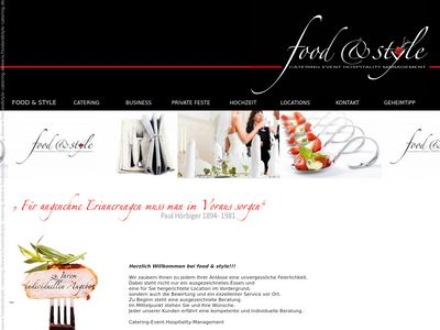 Catering food & style