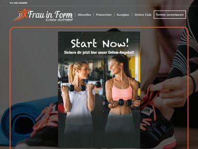 Fitnessstudio Frau in Form