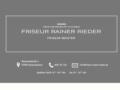 Friseur Rainer Rieder