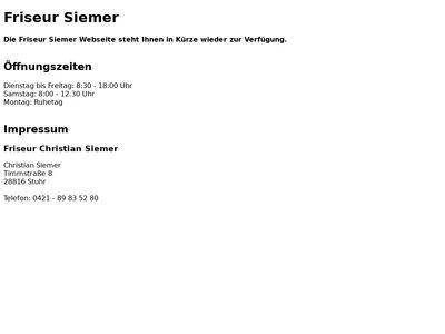 Friseur Christian Siemer