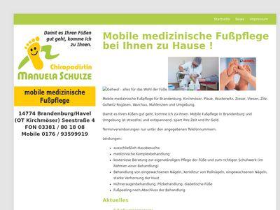 Mobile medizinische Fusspflege