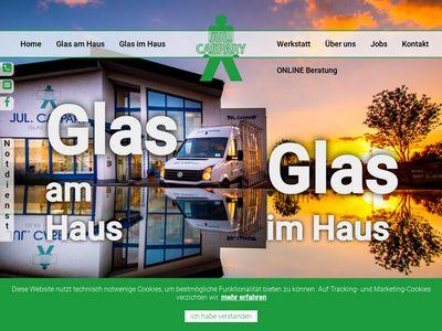 Jul. Caspary · Glas + Fenster