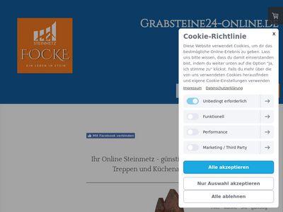 Steinmetz Focke - Grabmale, Natursteine
