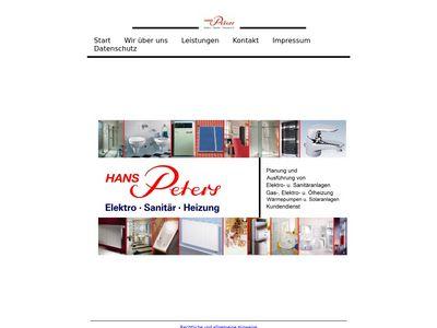 Hans Peters Elektro-Sanitär- Heizung e.K.
