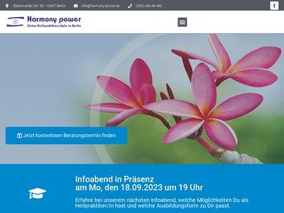 Harmony-power GmbH - Deine Heilpraktikerschule