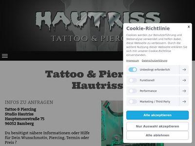 Tattoo & Piercing Studio Hautriss Bamberg