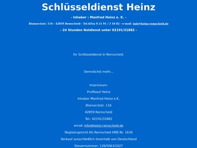 Schlüsseldienst Heinz